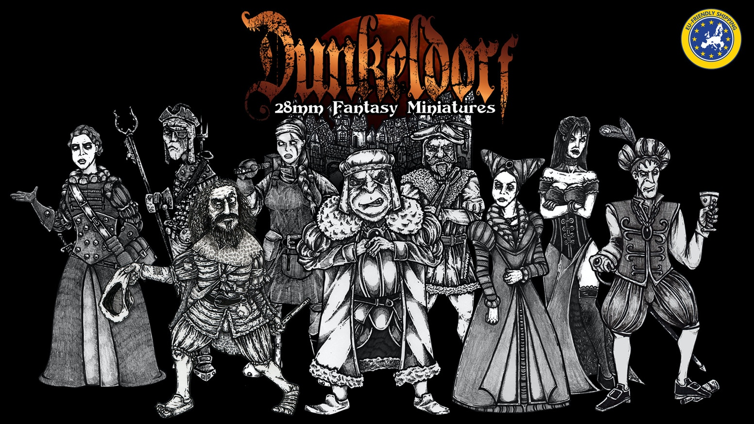 Dunkeldorf Miniatures - A line of characterful 28mm fantasy townsfolk miniatures for RPGs and Tabletop Gaming.