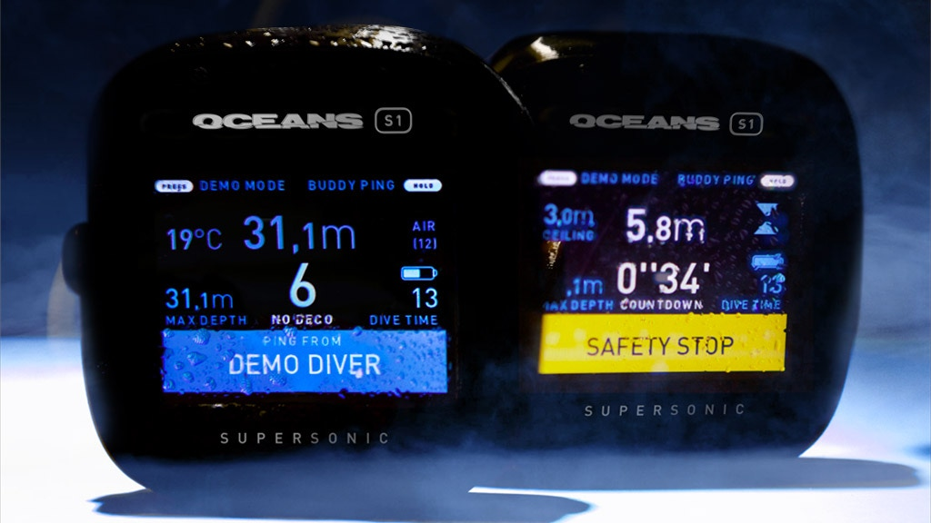 Oceans S1, the scuba dive computer with buddy communication. project video thumbnail