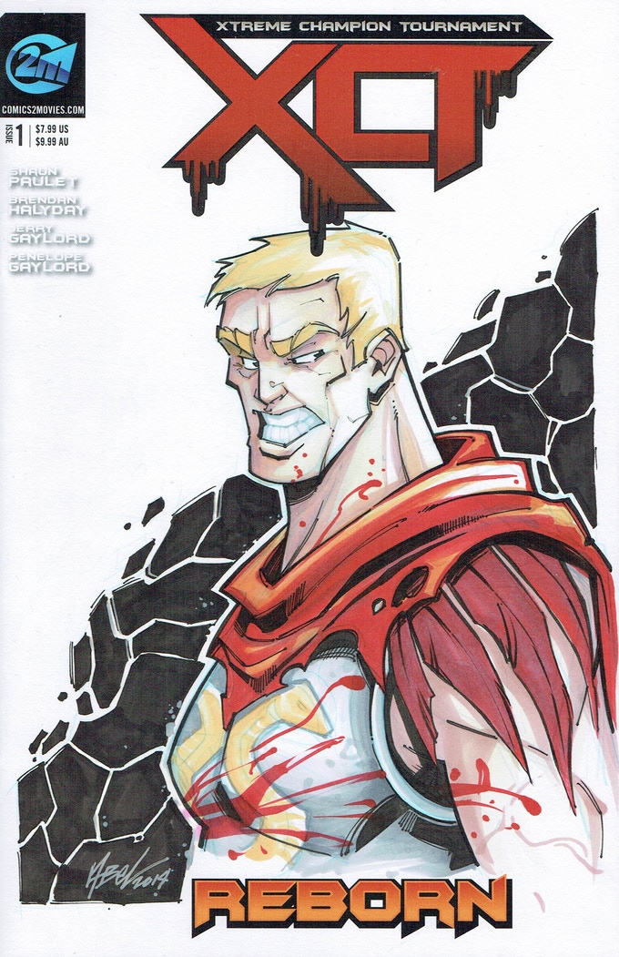 Martin Abel Spartacus Sketch Cover -$350