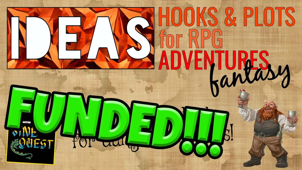 IDEAS! Hooks & Plots for RPG Adventures [Zine Quest] project video thumbnail
