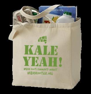 Kale Yeah! shopping bag mockup