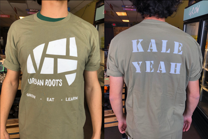Kale Yeah! Urban Roots tshirt. Colors vary.