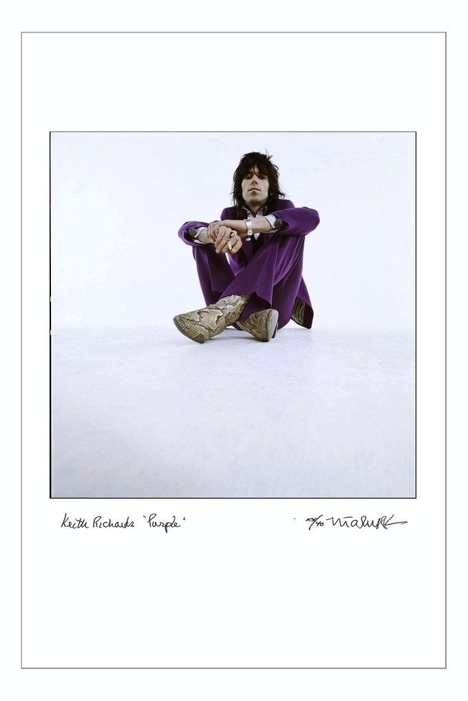 "24x35 Signed, Limited Edition, Digital Archival Print, Keith Richards ""Purple"" 1969 (24x35 choice)"