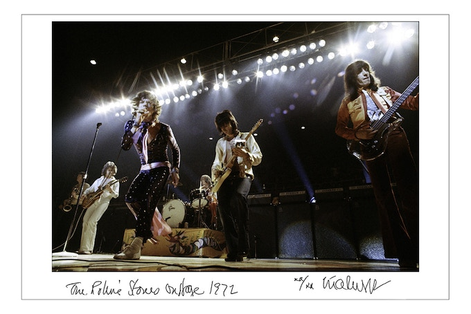 "24x35 Signed, limited edition archival print. ""The Rolling Stones On Stage 1972.""  (24x35 choice)"