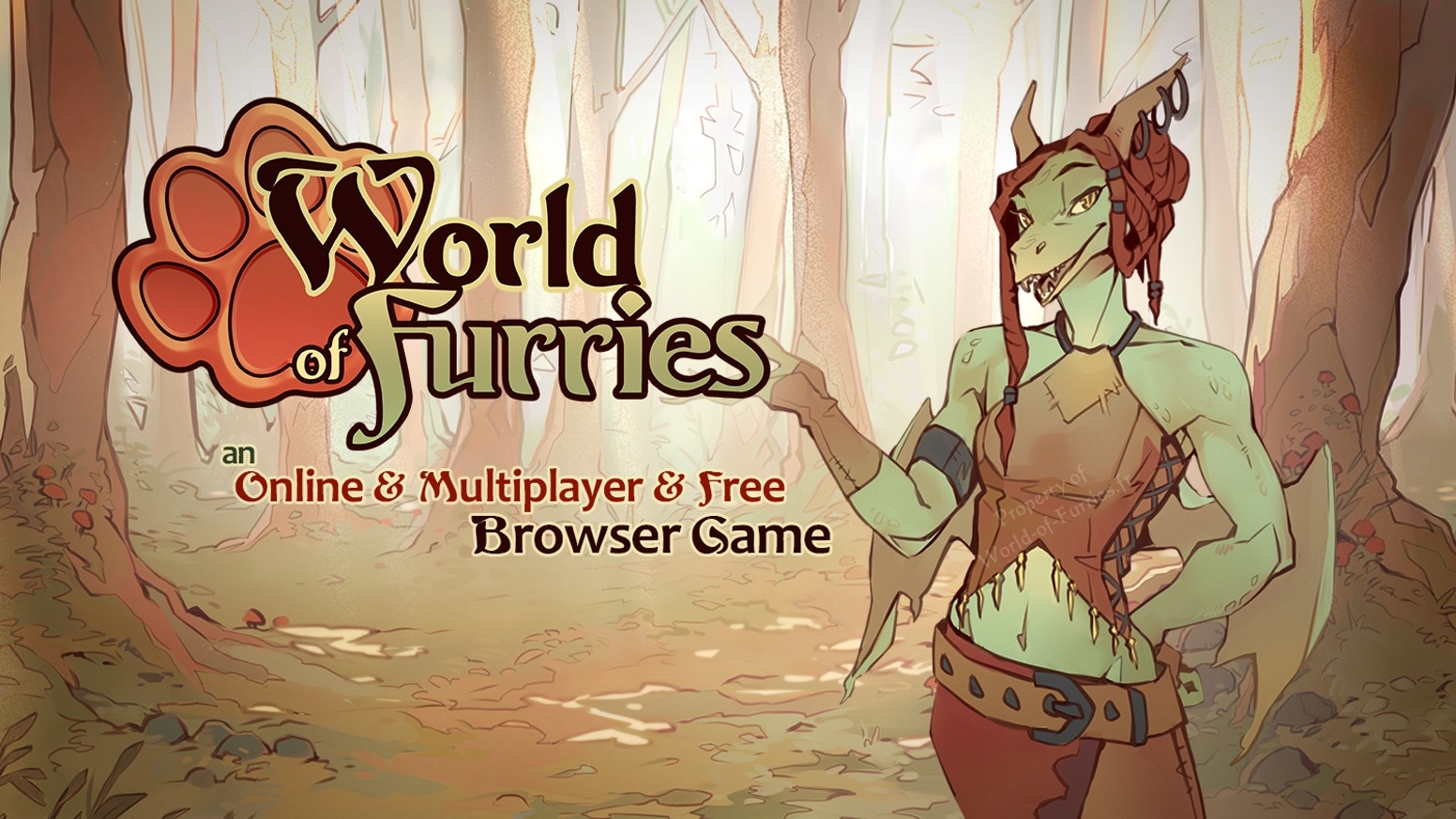 A multi-player web-browser-based, character-driven roleplaying game for the furry fandom, focused on adventure roleplay & customization