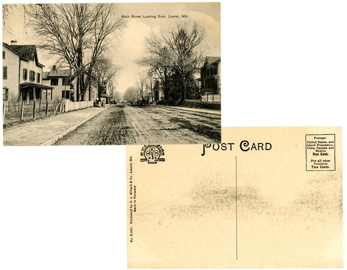 Original 1910s mint condition postcard: Main Street Looking East. For a $250 pledge, you'll receive this rare postcard plus TWO signed copies of the book.
