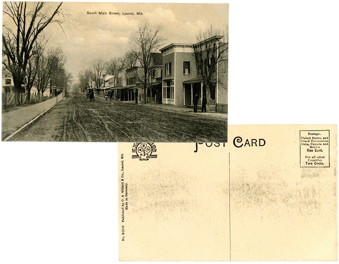 Original 1910s mint condition postcard: South Main Street. For a $250 pledge, you'll receive this rare postcard plus TWO signed copies of the book.