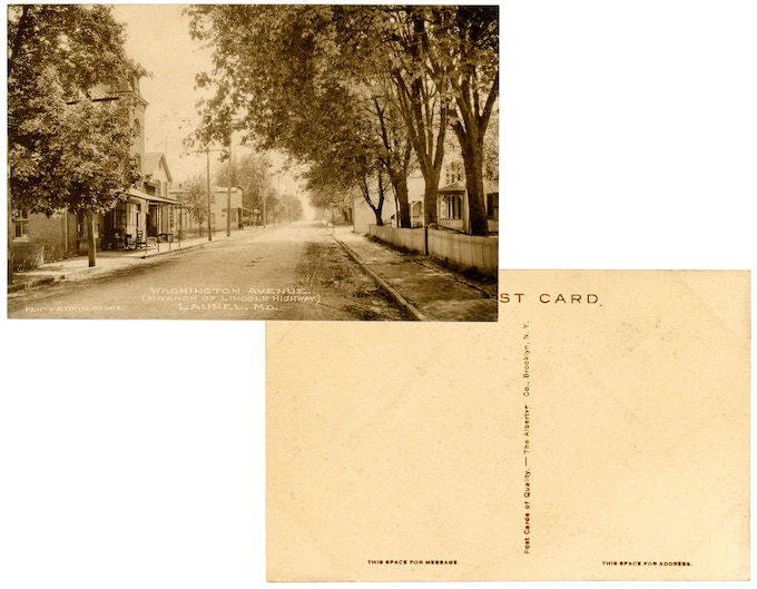 Original 1910s mint condition postcard: Washington Avenue. For a $250 pledge, you'll receive this rare postcard plus TWO signed copies of the book.