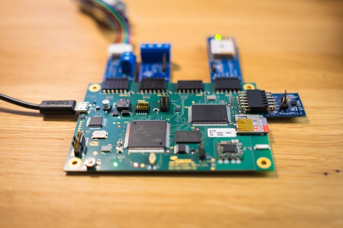 Prototype GRiSP 1 Board with various Pmods