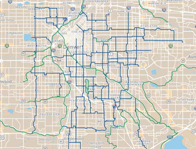 The Bike Streets Map