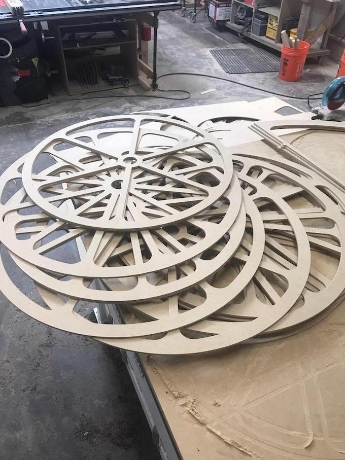 Harrison created gears for Kinetic clock