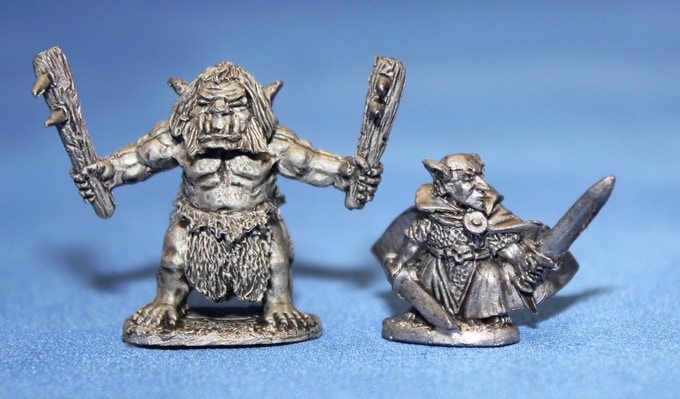 The Goblin Savage next to a Lesser Goblin Bat Hero