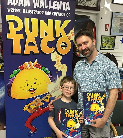 Adam and Makana are the creators, writers and co-artists of PUNK TACO.