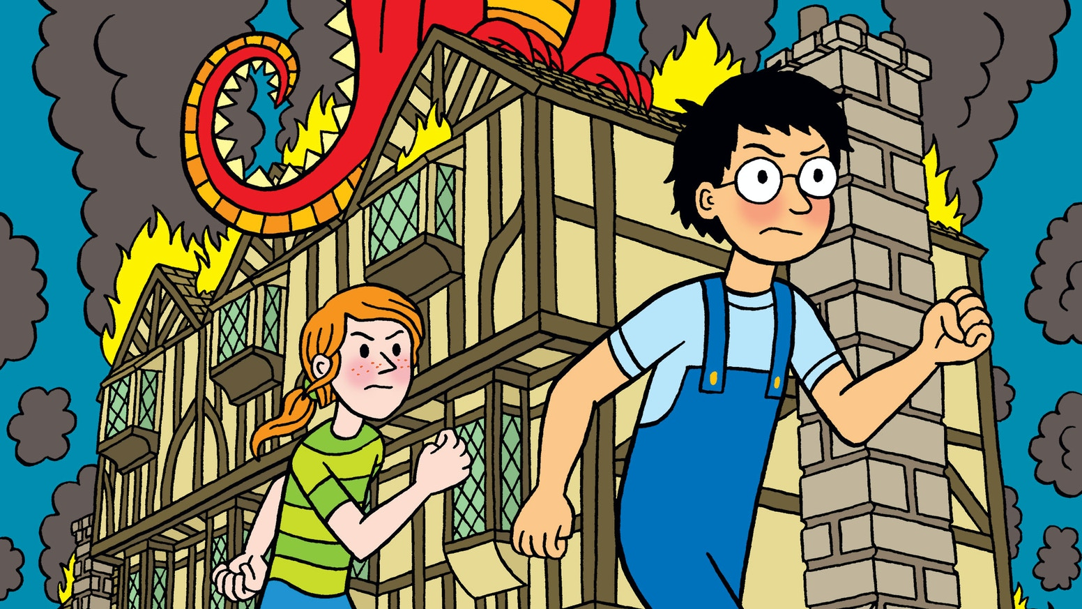 A  144-page, hardback collection of lighthearted fantasy adventure comics for kids, with dragons, wizards and lots of silly wordplay!