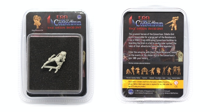 Here's an example of a boxed miniature - Awuuzia in this case. Each hero miniature will be provided in a Blister Pack.