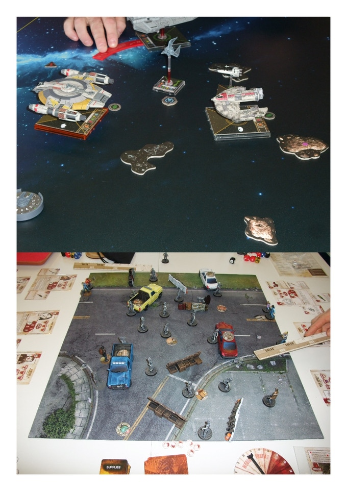 Tabletop Games in progress in the old store