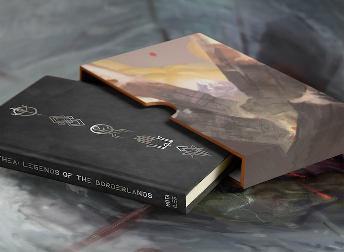 A mockup of the deluxe edition of the book.