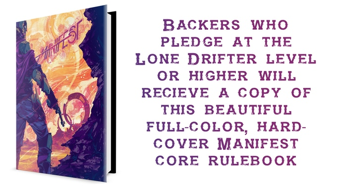 Full-Color, Hardcover Manifest Core Rulebook