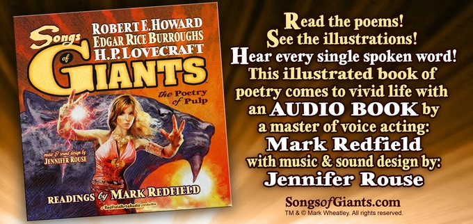 The audio book is included with every print level reward of the SONGS OF GIANTS book