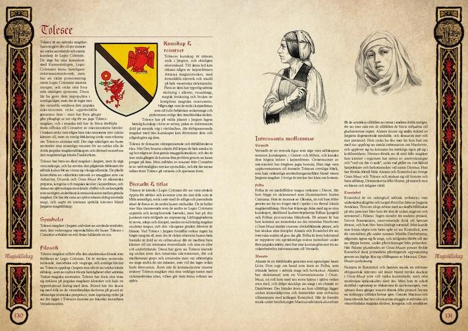 Huset Tolesce från Legio Colonan är ett av de magisällskap som rör sig i Jargien