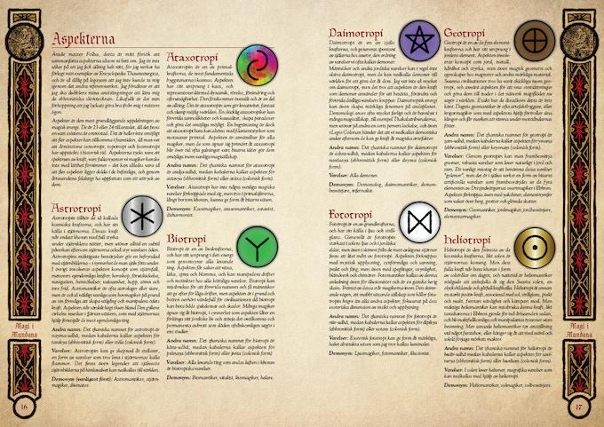 Överblick på de sju första aspekterna