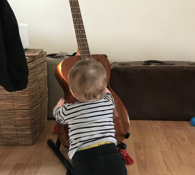 The cutest guitar tech I ever did see.