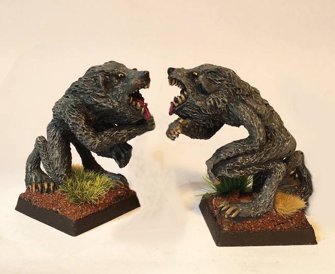 Werewolf. Same sculpt from different sides.