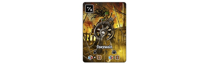 The Coxwain is a new Starting Citizen for each player.