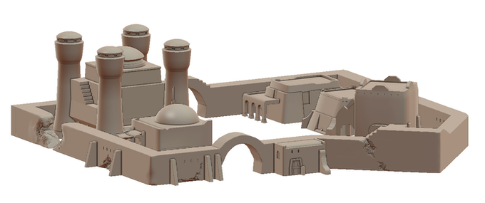 City wall with example buildings (WIP)