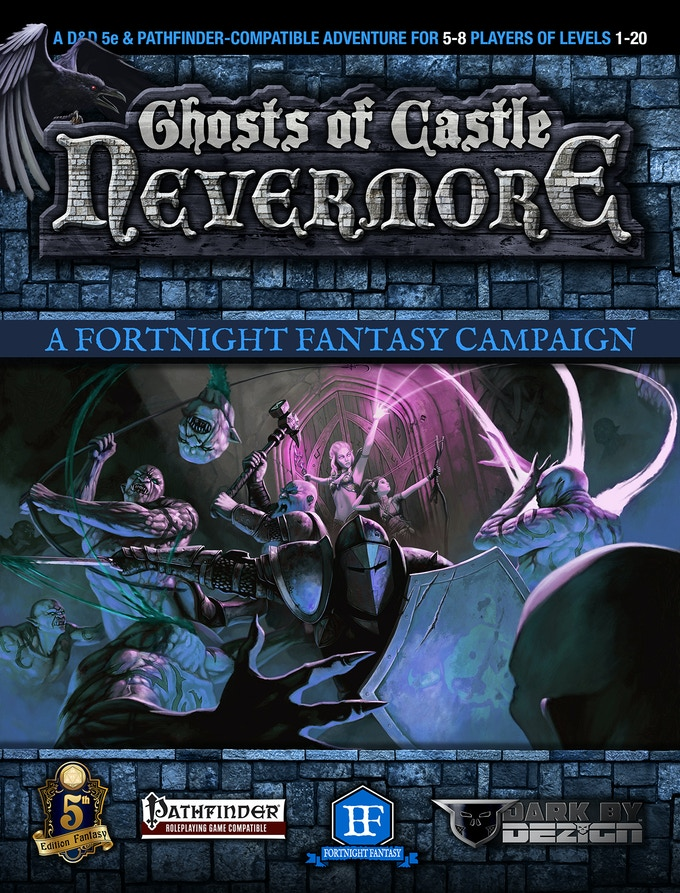 Cover for GHOSTS OF CASTLE NEVERMORE Adventure. Cover by Dean Spencer!