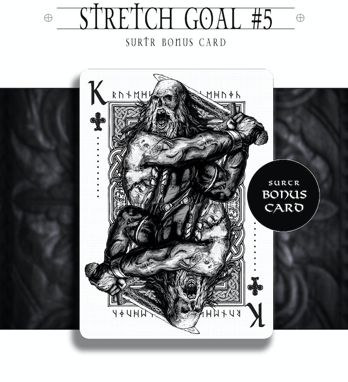Surtr bonus card is unlocked for the project as an alternate king of clubs (KoC).