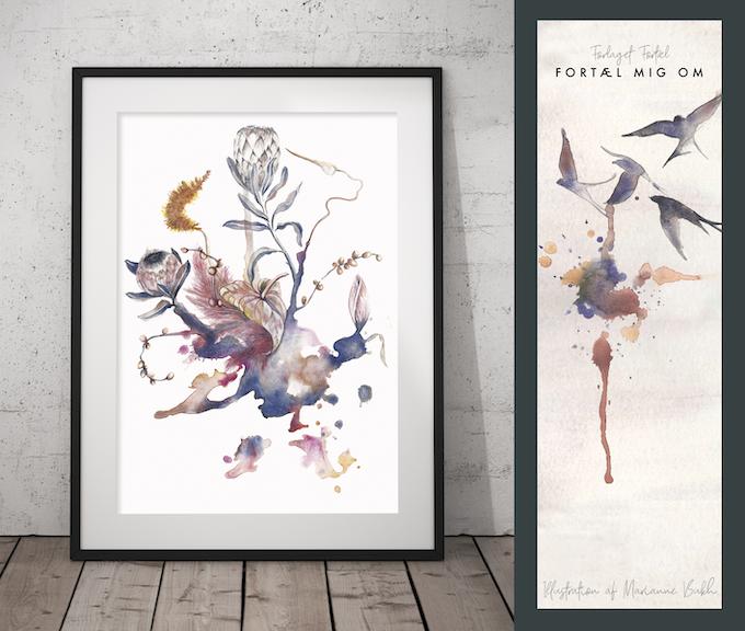 Her vises plakaten 'Eternal Memories' og bogmærket, der begge er designet af kunstner og illustrator Marianne Bukh Svenningsen, og kan købes eksklusivt som en del af Kickstarter-kampagnen.