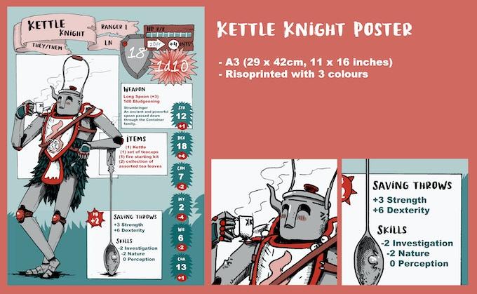Poster 1 Design - Kettle Knight D&D Stats
