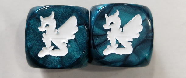 Moonie on a D6 Sapphire Marble