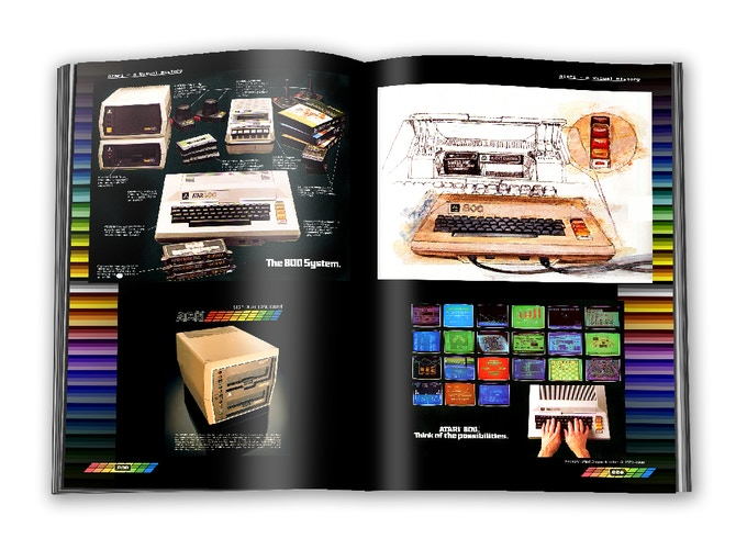 Atari 800 home computer advertisement material