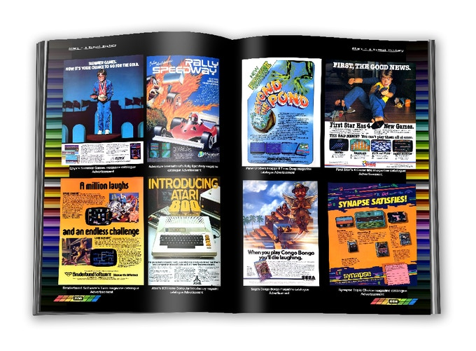 A collective of remastered Atari 8-bit third party magazine advertisement material
