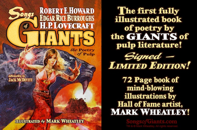 SONGS OF GIANTS: the poetry of pulp, illustrated by ComicMix, LLC