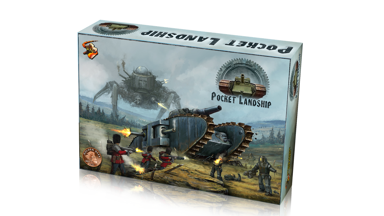 Command a diesel powered Landship in a battle to end the steam age forever.   Solo and 2 player cooperative dice allocation game.