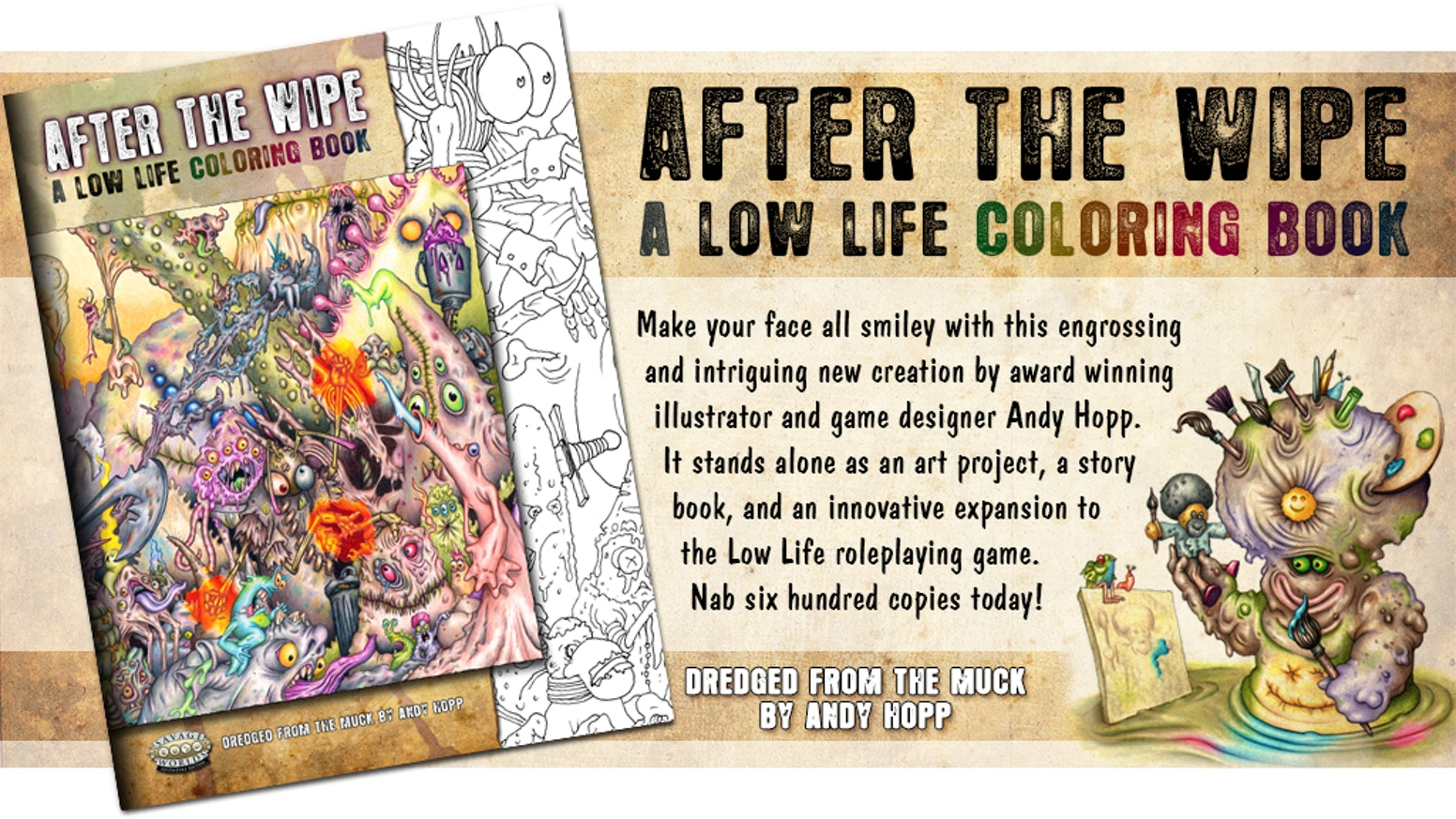 AFTER THE WIPE: A Low Life Coloring Book by Andy Hopp — Kickstarter