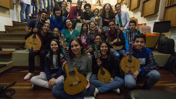 Working with students of El Sistema in Caracas, Venezuela, 2018