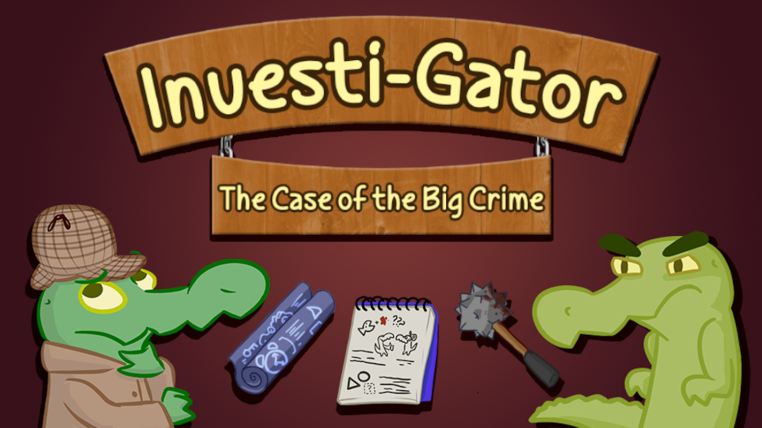 A short comedy adventure. Investi-Gator is here to solve the crimes! He's not really clear on what the crime is, but he'll do his best.
