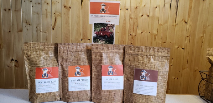 "Our full line of PEI roasted coffee's! Available as the ""Wake up and smell the coffee's"" reward."