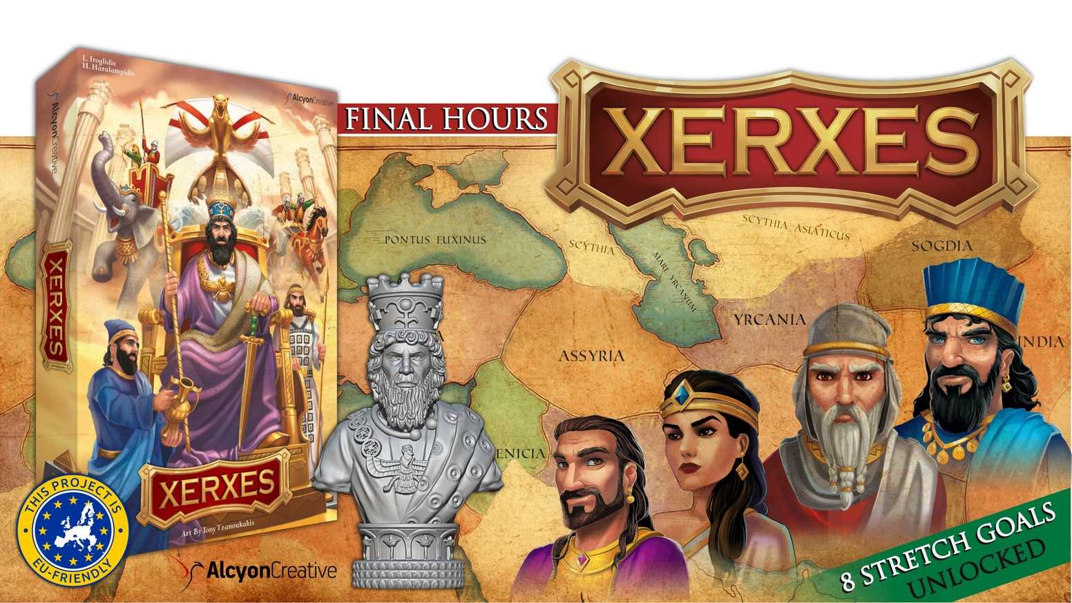 Historical boardgame for 1-4 players, with an innovative turn order mechanic!