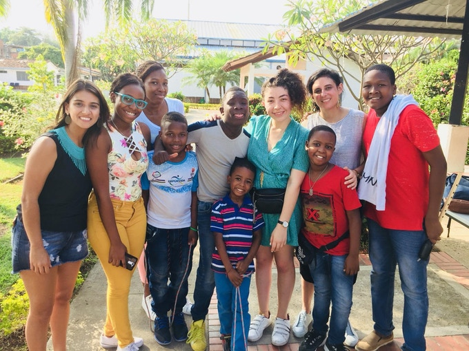 LADAMA with the extraordinary young musicians of La Escuela Canalon de Timbiquí, Cali, Colombia