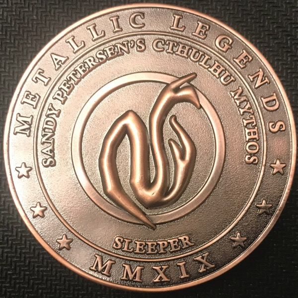 Back of Sleeper coin - plated in antique copper