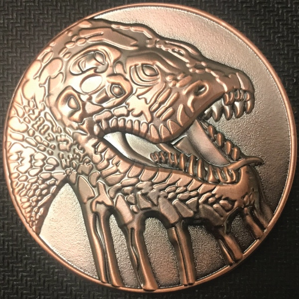 Front of Ancients coin - plated in antique copper