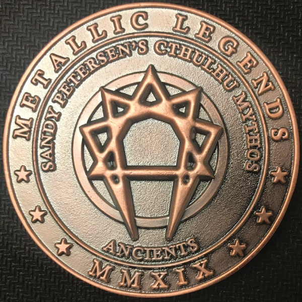 Back of Ancients coin - plated in antique copper