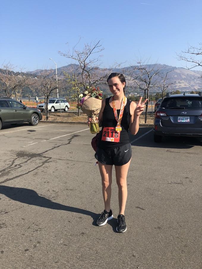 Columbia Gorge Marathon Finisher!