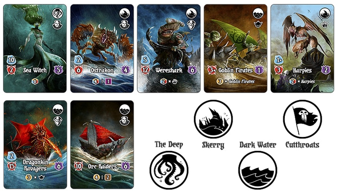 Four Nautical Monster stacks rise from the dark depths of the Ocean of Nae to test your Dukes.