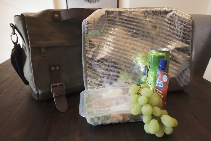 nXtBag2 Removable lunch/cooler bag two every day bags in one waxed canvas nXtBag2 .